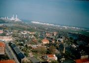 Cristiania, город хиппи; с башни Frelsers Kirke