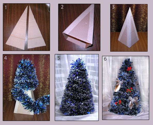 Как сделать своими руками новогоднюю елку фото