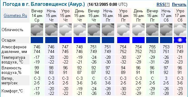 Погода на 2 недели в амурской области