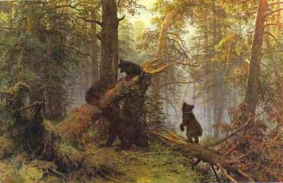картины Шишкин - Утро в сосновом лесу.  1889 картины