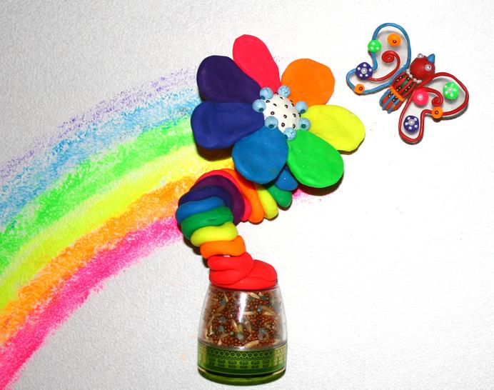 Поделка из соленого теста цветик семицветик