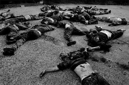 абхазы расстреляли пленных грузин