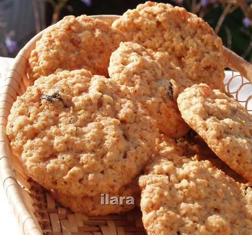 Овсяное печенье с медом без муки