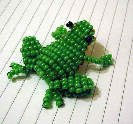 схема плетения крокодильчика из бисера - Это бисер!