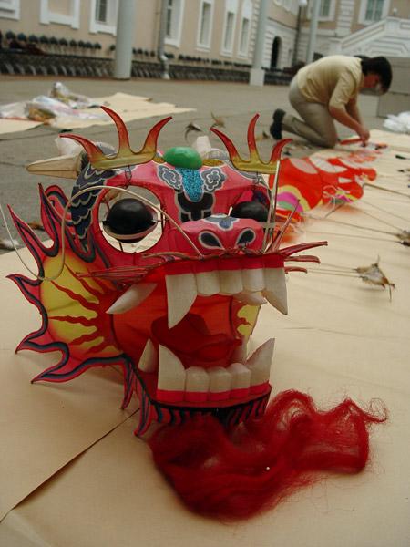 Как сделать китайского дракона большого