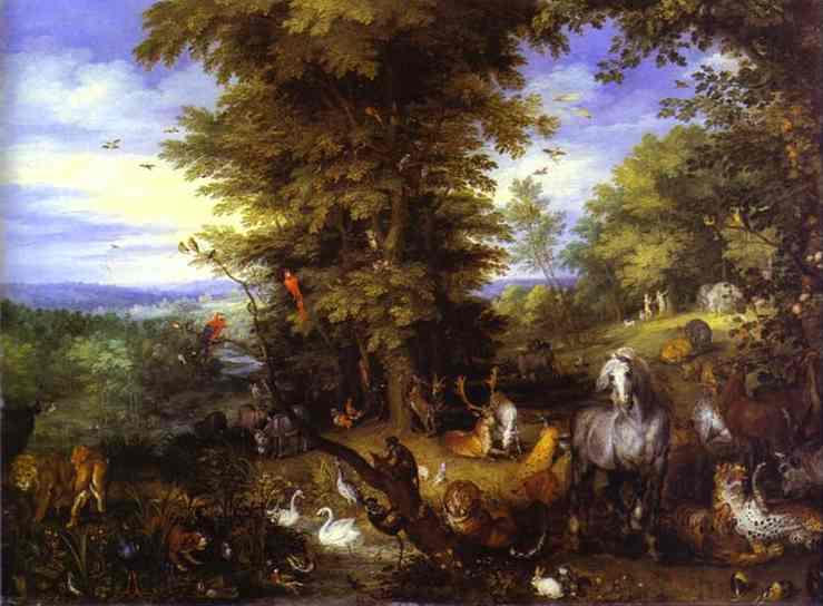 Brueghel the Elder. Adam and Eve in the Garden of Eden. 1615. Royal Collection, UK
