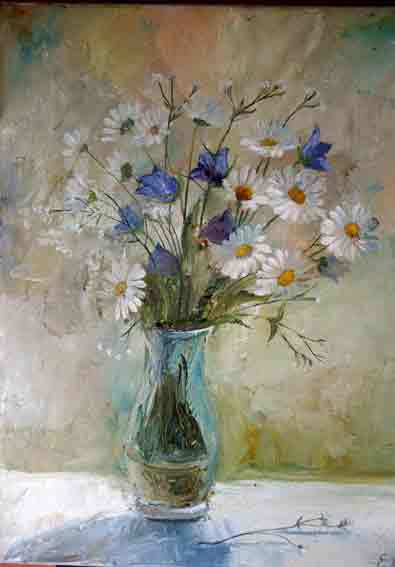 Полевые цветы живопись полевые цветы