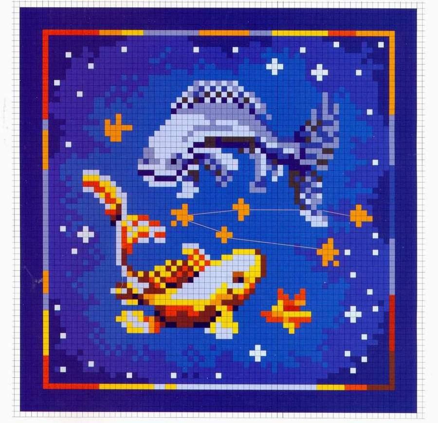 Знаки зодиака рыбы вышивка 9