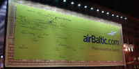 Огромная реклама airBaltic на Невском проспекте