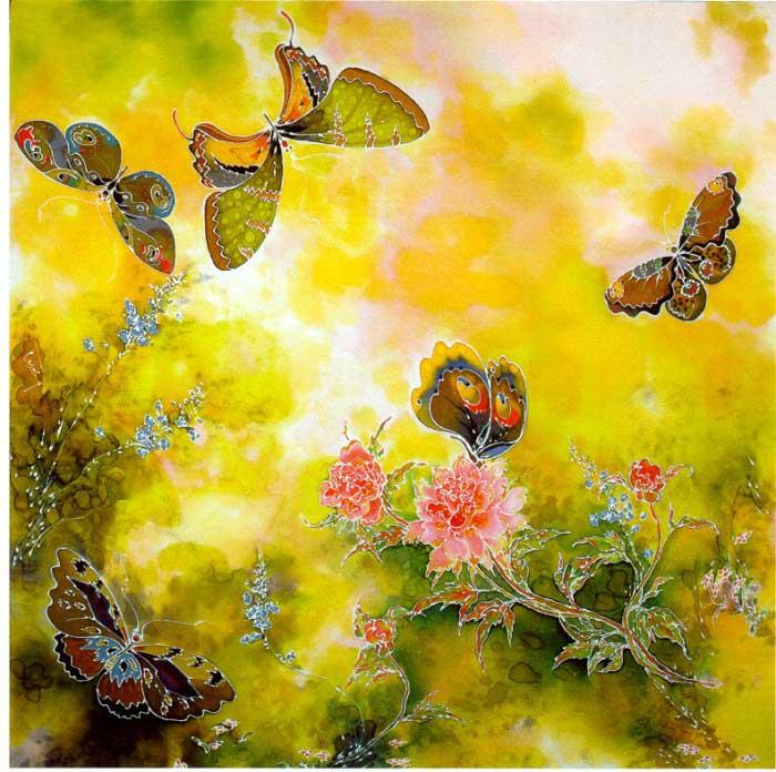 Peonies and Butterflies