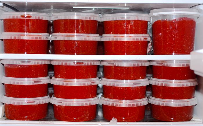 Сроки хранения красной икры в пластиковом контейнере