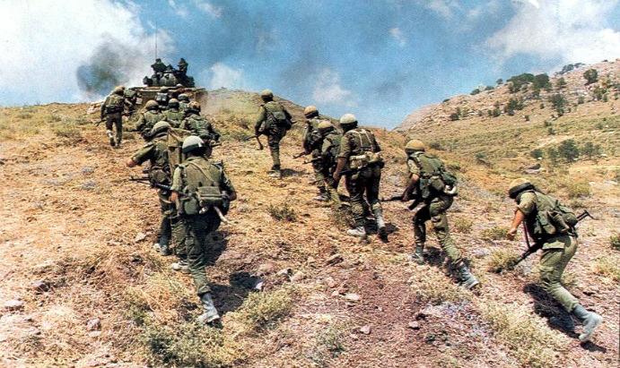 Солдаты армии южного ливана в