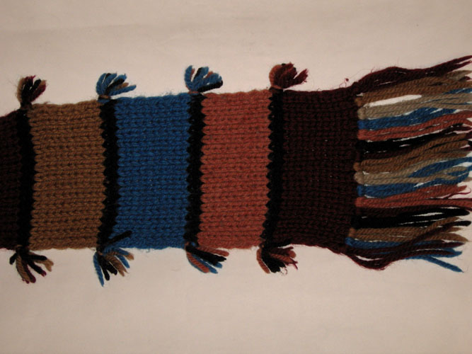 схема шарфа связанного крючком.