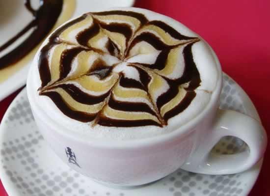 Рисунки на кофе.