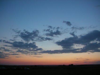 закат в Аркаиме