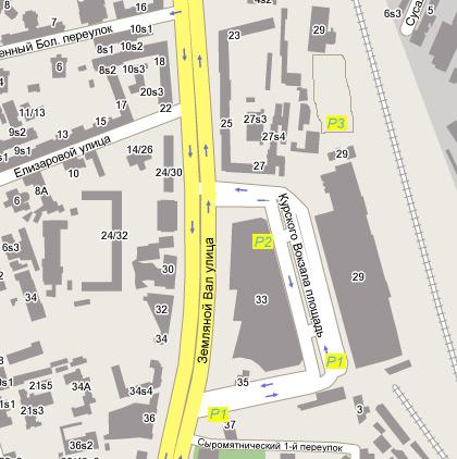 Схема парковок Курского