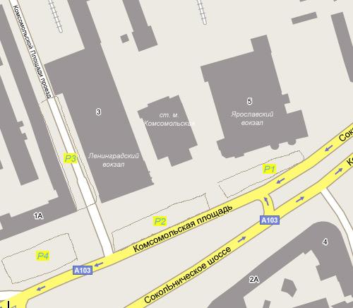 Схема парковок Ленинградского