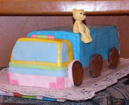 Марципановый торт грузовая машина фото