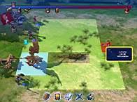 Экран битвы: обратите внимание на полосу сверху, где показывается очерёдность ходов