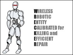Wireless Robotic Entity Calibrated for Killing and Efficient Repair