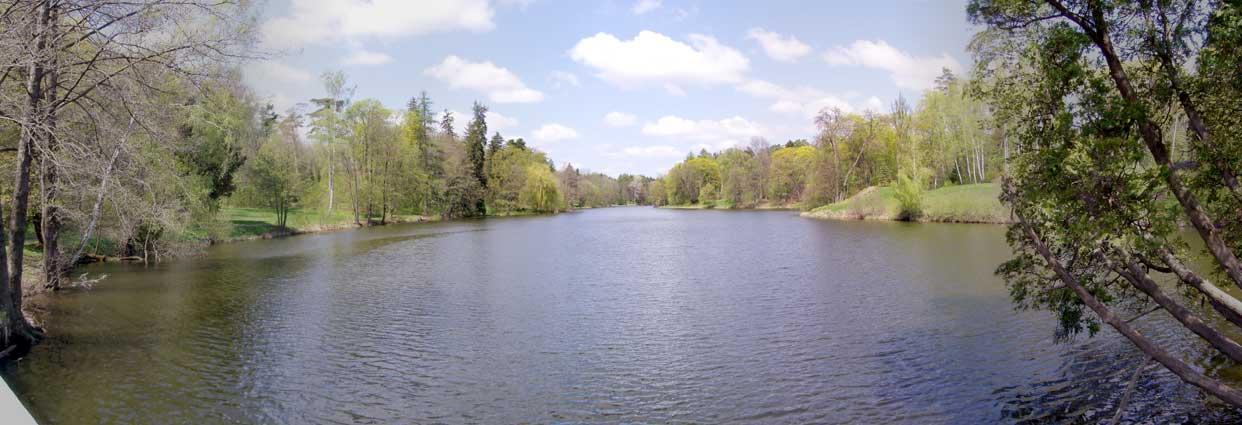 панорамный вид на Большое озеро