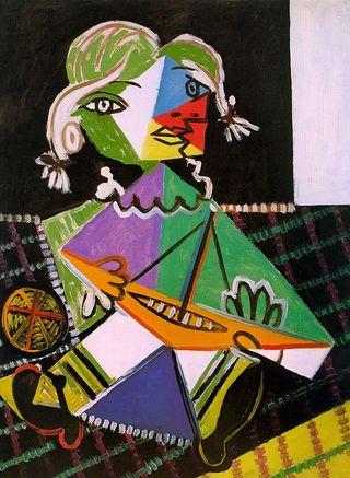 Пабло Пикассо/Девочка с корабликом (1938)