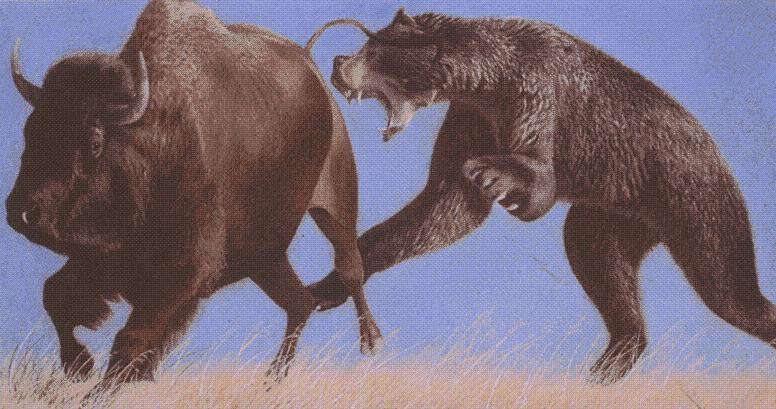The Giant Short-Faced Bear DOMINATED the North American plains.