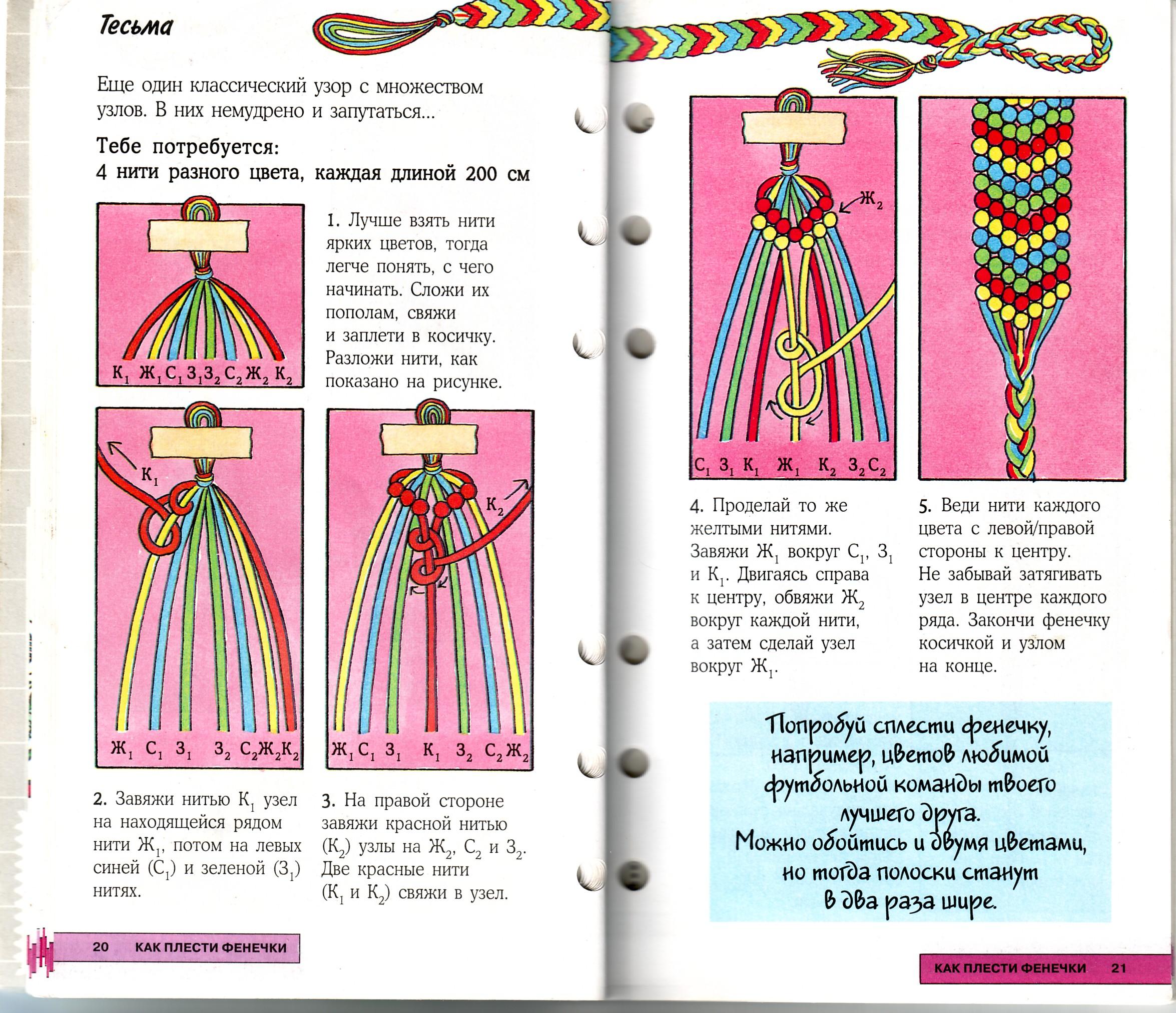 Как плести фенечки из ниток мулине Крестик Схемы для плетения фенечек