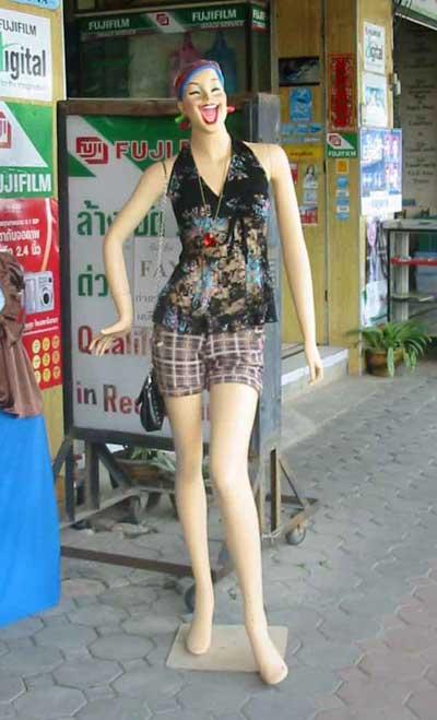 Тайский манекен. Thai Mannequin.