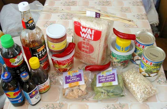 Тайские продукты в Москве.