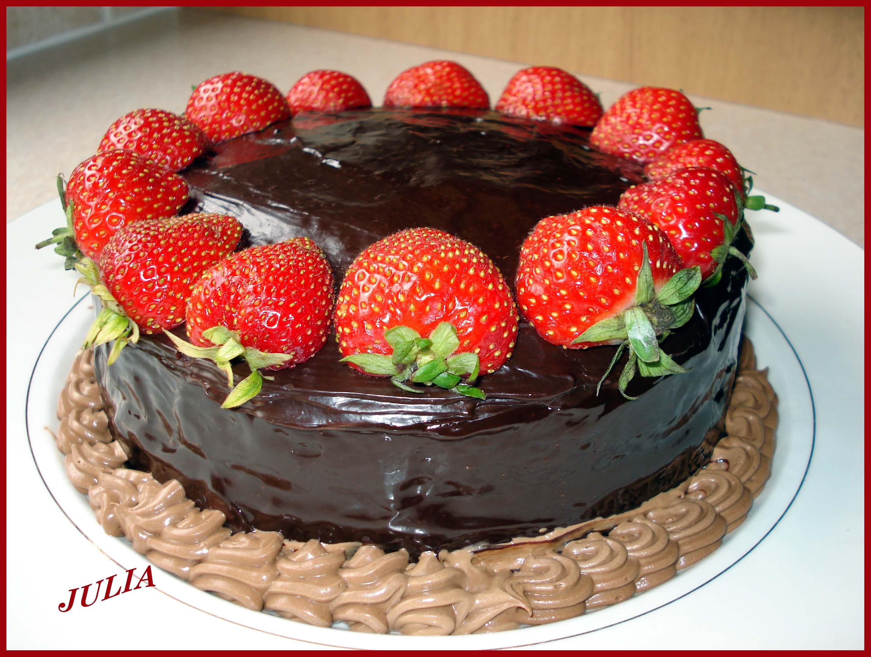 Сладкая кулинария: шоколадный торт