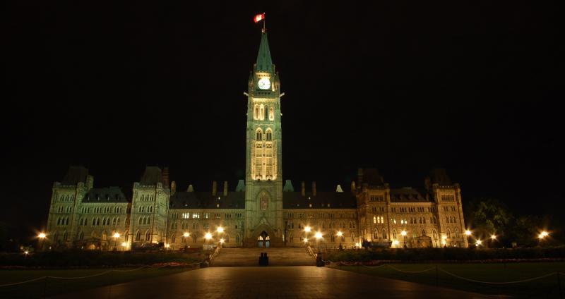 Канадский парламент ночью by Magon