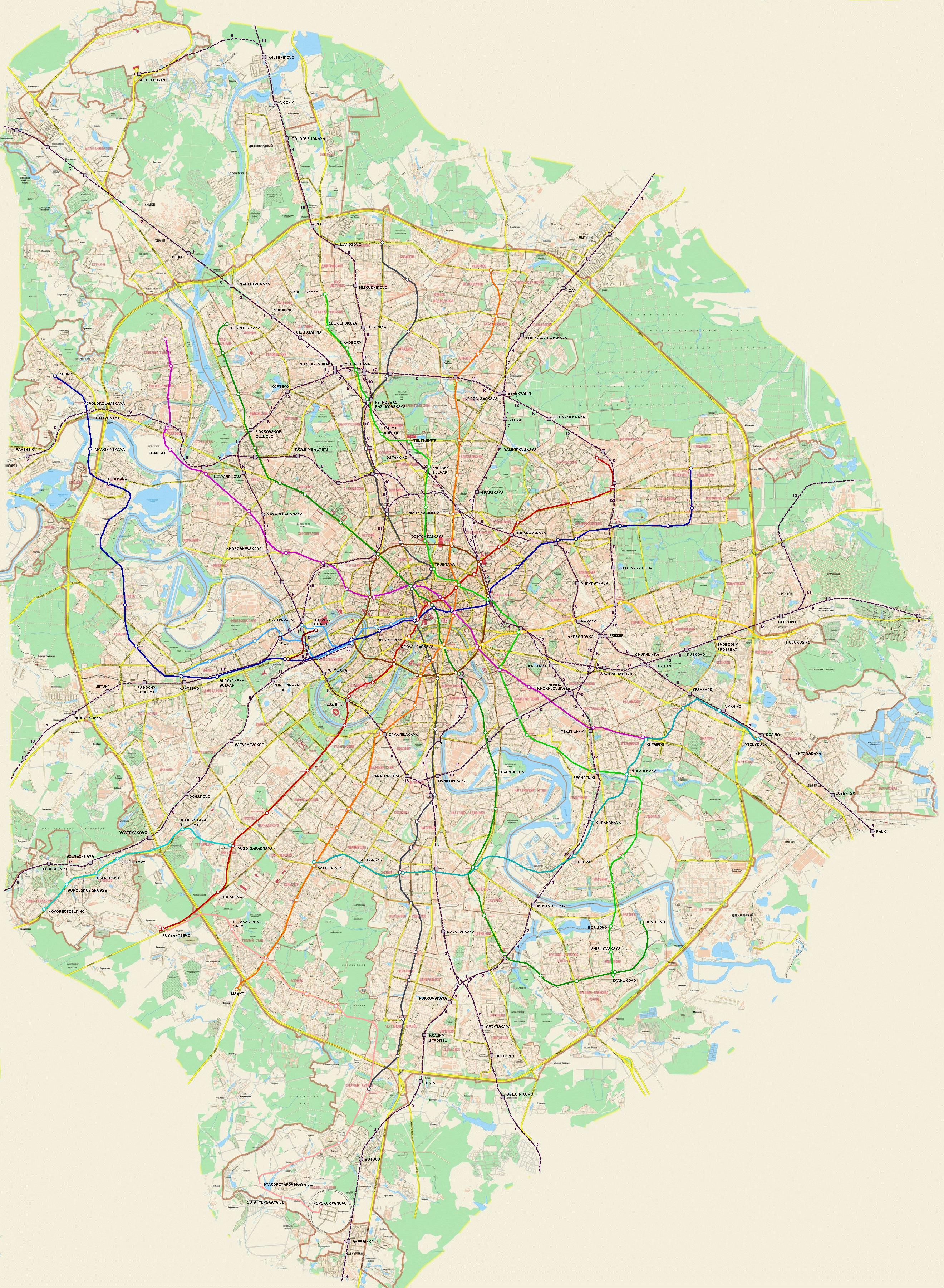 проект метро москвы схема