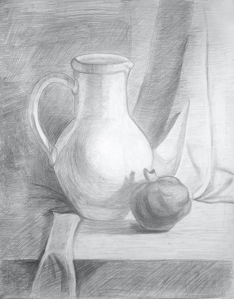 Нарисованные карандашом рисунки