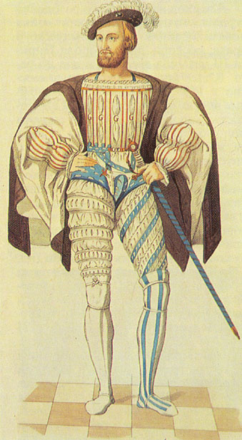 Мужской французский костюм XV-XVI века.  Автор:Admin.