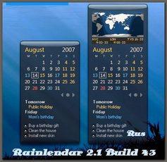 Rainlendar 2.1 Build 43