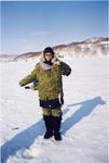 Камчатка - поймала рыбку подо льдом