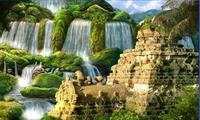 Храм среди водопадов