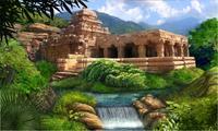 Храм возле горной реки