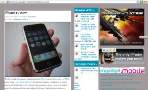 обзор Iphone на Энгаджете