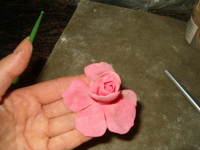 Цветы из пастилы пошагово