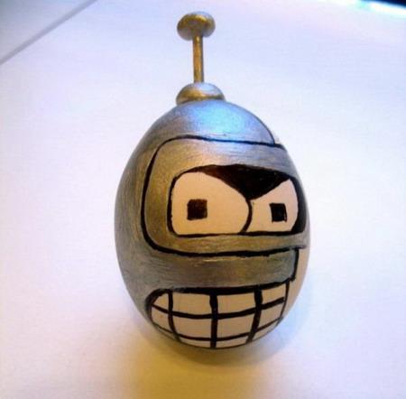 Бендер, наклейка на пасхальное яйцо