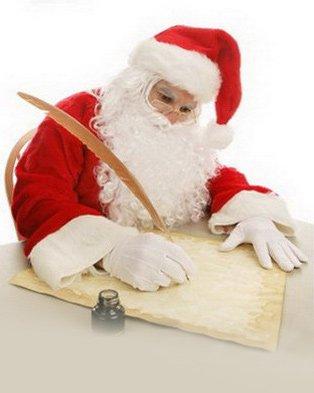 Дед Мороз пишет письмо