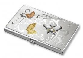 Визитница с бабочками