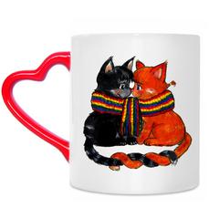 Чашка с котейками