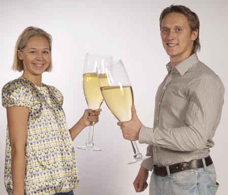 Мега-бокалы для шампанского