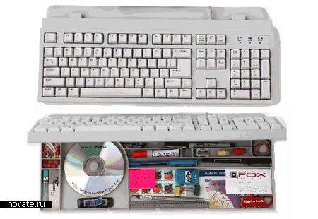 Клавиатура с потайным отделением