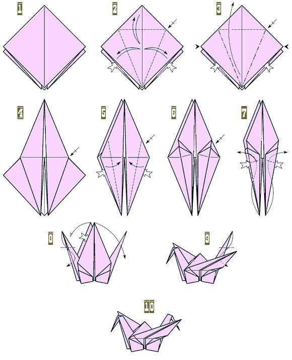 Журавлик оригами как сделать