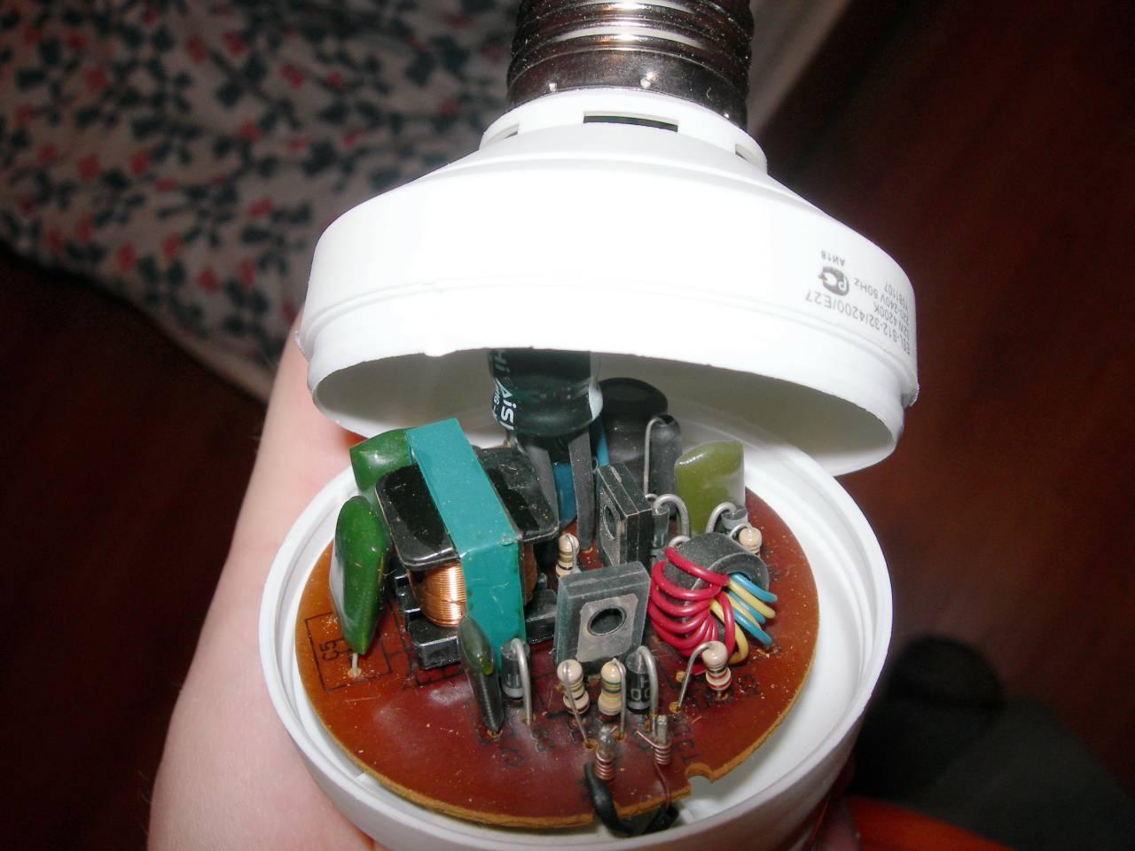 схема знергосберегающей лампы camelion 30w