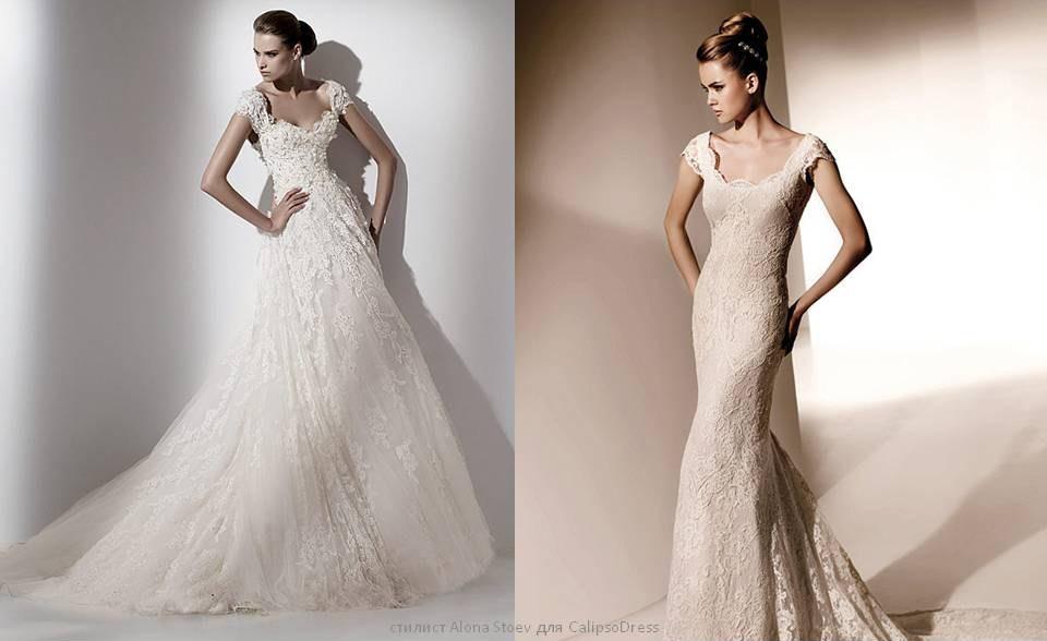 Какое свадебное платье подойдет к широким плечам
